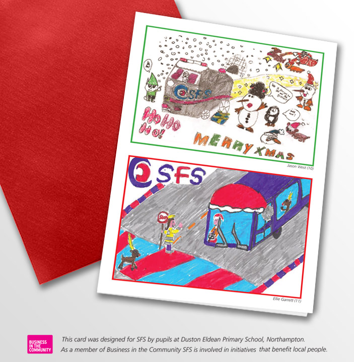 Local Primary School Pupils Design SFS Christmas Card